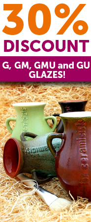 30% Discount for glazes